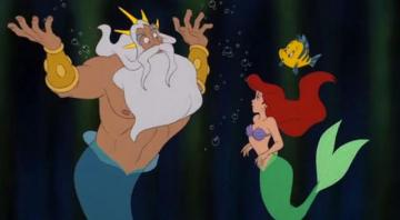 Ariel with Dad - An American animated series from Disney. He talks about the adventures of a mermaid named Ariel and