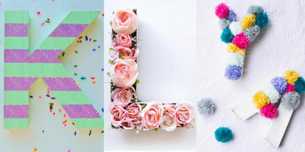 DIY - do it at home - Colorful letters to place on the shelf (8×8)