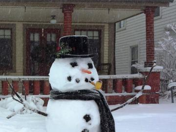 Antoni's snowman - Antosi made such a snowman this winter.