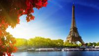 Eiffel Tower - A VIEW TO THE EIFFLA TOWER IN PARIS