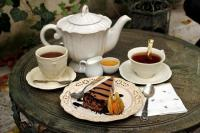 same goodness - coffee and cake are waiting for guests