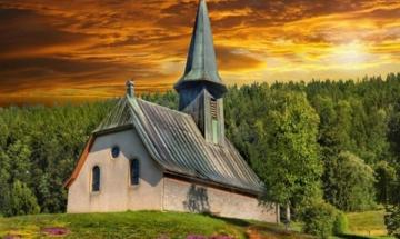 Church in the forest - complicated puzzle