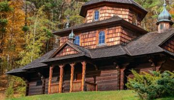 Church in the forest - charming mountain landscape with a church