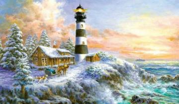LIGHTHOUSE - colorful puzzle jigsaw