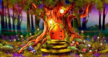 Fairytale cottage - a fairy-tale house in a tree