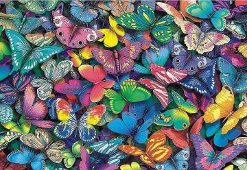 A puzzle of colorful butterfli - A puzzle of colorful butterflies