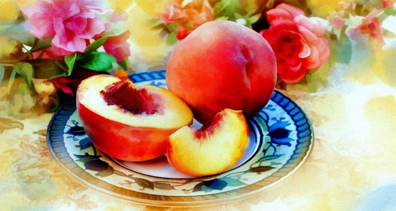 Peaches - colorful jigsaw puzzle (10×10)