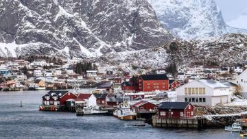 Winter in Norway - Norway, officially the Kingdom of Norway - a country in Northern Europe that is a constitutional mon