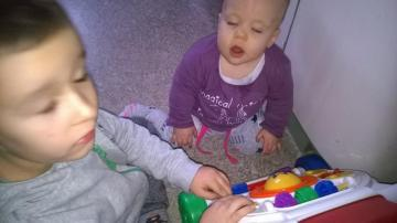 Gabriel Gorzela - Gabrys is sitting in a small room with her sister