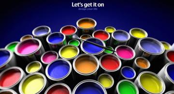 Colorful puzzle - colorful canned paints