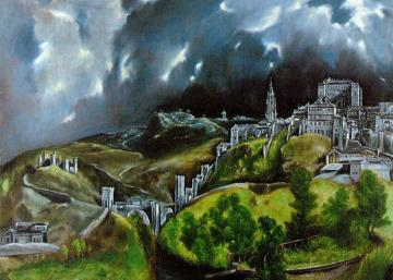 El Greco A city from the depth - The view of Toledo is a picture that only seemingly reflects reality. Looking at him not too analyti