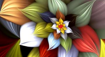 Abstraction-flower - colorful puzzle-puzzle
