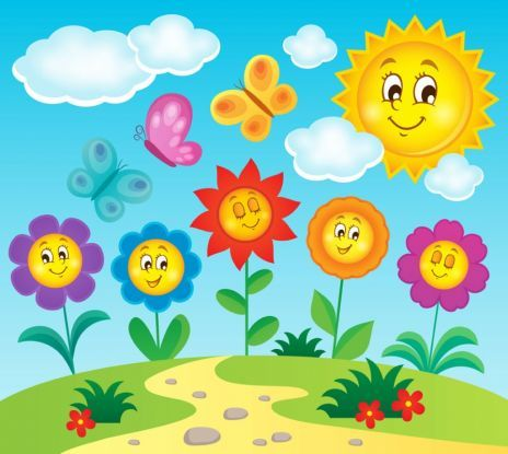butterflies in the meadow - spring puzzles for pre-school children (2×2)