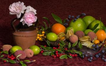 spożywka - different types of fruit and flowers