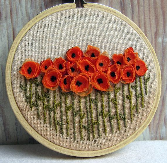 Embroidery technique - Embroidered maki, homemade work, do it yourself