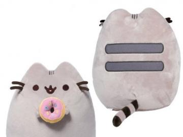 pusheen with donut - This is pusheen eating a donut with icing and sprinkles