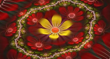 Flower puzzle - colorful jigsaw puzzle
