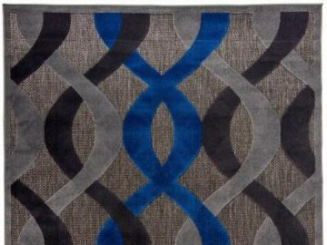 Carpet Carpetforyou Dark Tangl - Dark Tangle is a very charming carpet kept in dark shades of gray, black and blue. Its composition c