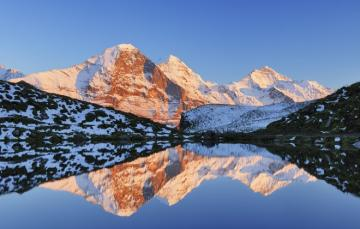 Swiss Alps - Swiss Alps.T he major triple watersheds in the Alps are located within the country, they are: Piz Lu