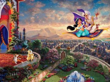 Thomas Kinkade Aladdin - Thomas Kinkade puzzles. His goal as an artist was to touch people of all faiths, to bring peace and