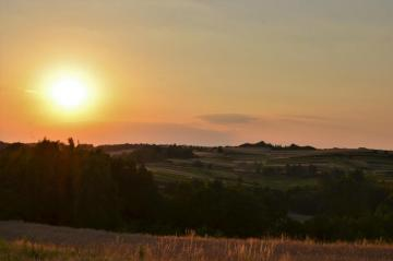 Landscapes of Rybna - Fish and sunset