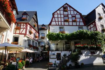 Mosel. Germany. - Pretty buildings in Mosel. Germany.