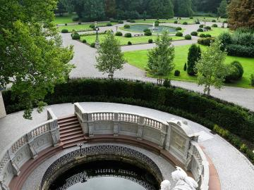 The source of the Danube. - Symbol of the source of the Danube in Donaueschingen.