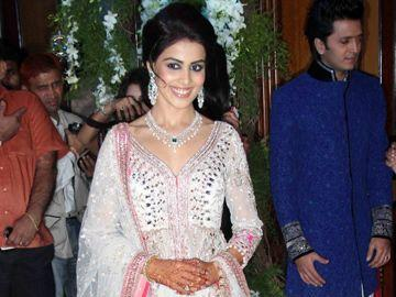 Genelia D'Souza - Genelia in a traditional Indian costume at the gala.