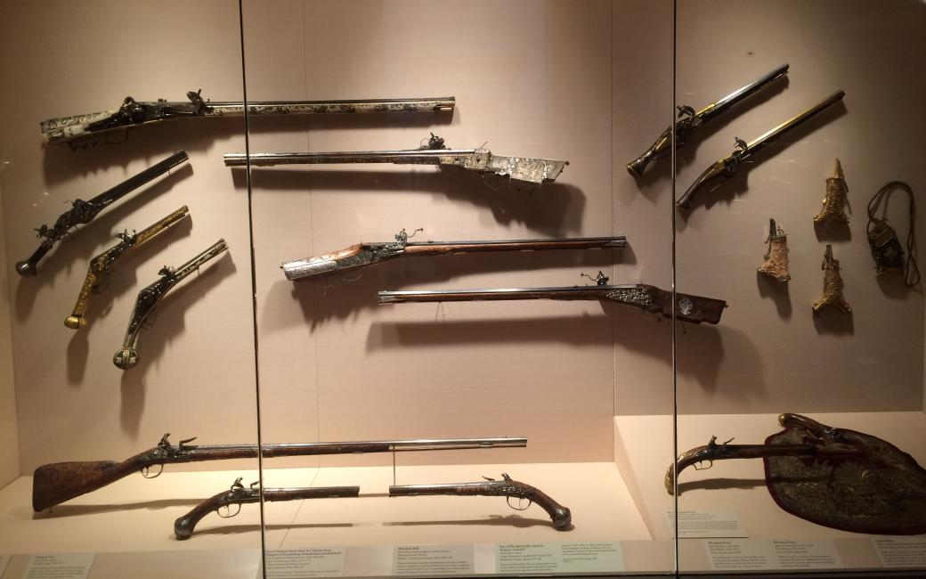 An antique weapon - An antique weapon in a display case (9×9)