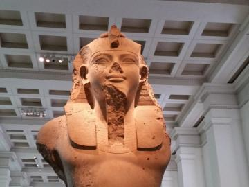 the remnant of the pharaoh? - The remains of the pharaoh in the museum in London
