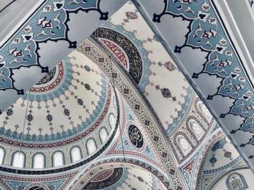 Colorful mosque in Turkey - The interior of a beautifully finished mosque in southern Turkey.