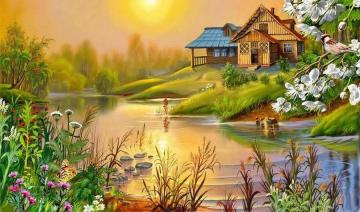 painting - colorful jigsaw puzzle