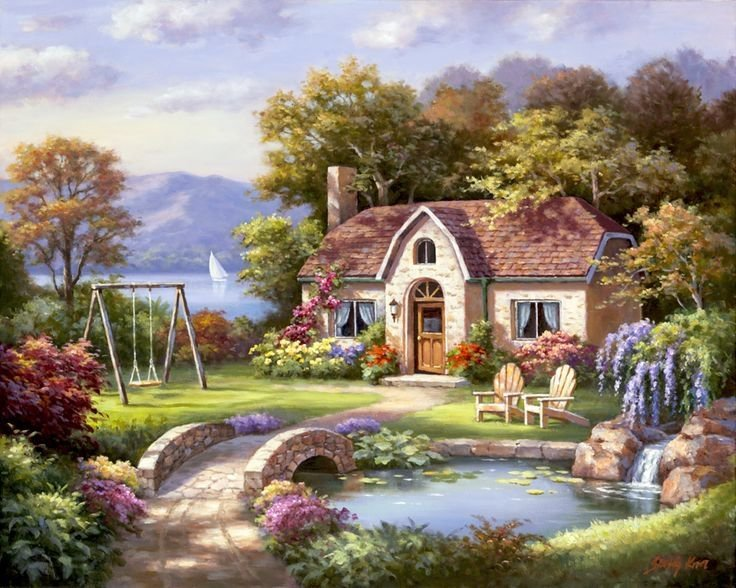 House by the lake - Cottage with a garden by the lake (9×9)