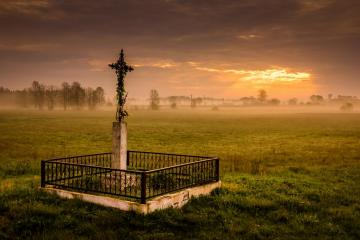 Podlasie. Surroundings of Tyko - Each cross carries a story. I wonder what he would tell us.