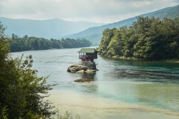 House on Drina. Serbia. - Perfect for recidivers. Sometimes I would also be hiding there.