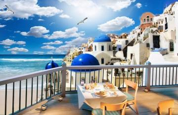 Greece. View from the balcony. - Europe. Greece. View from the balcony.