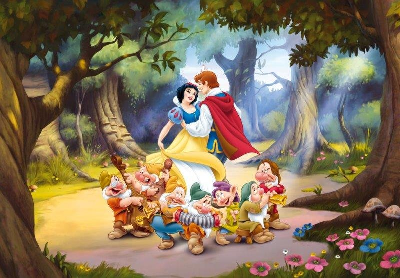 Snow White and the Seven Dwarf - biancaneve and the prince who dance in the woods with the dwarfs