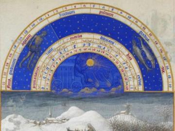 """Limbourg brothers, February - Limbourg brothers, February from """"The very rich hours of Prince de Berry"""""""