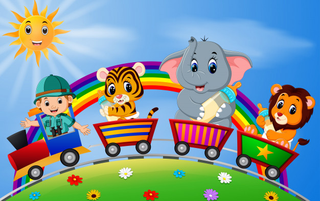 Colorful picture, jigsaw, puzzle - A colorful picture for children. Puzzle for children. Children's puzzles (7×5)