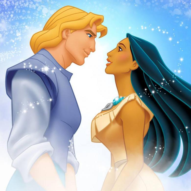 pocahontas - pocahontas and john smith who look at each other (10×10)