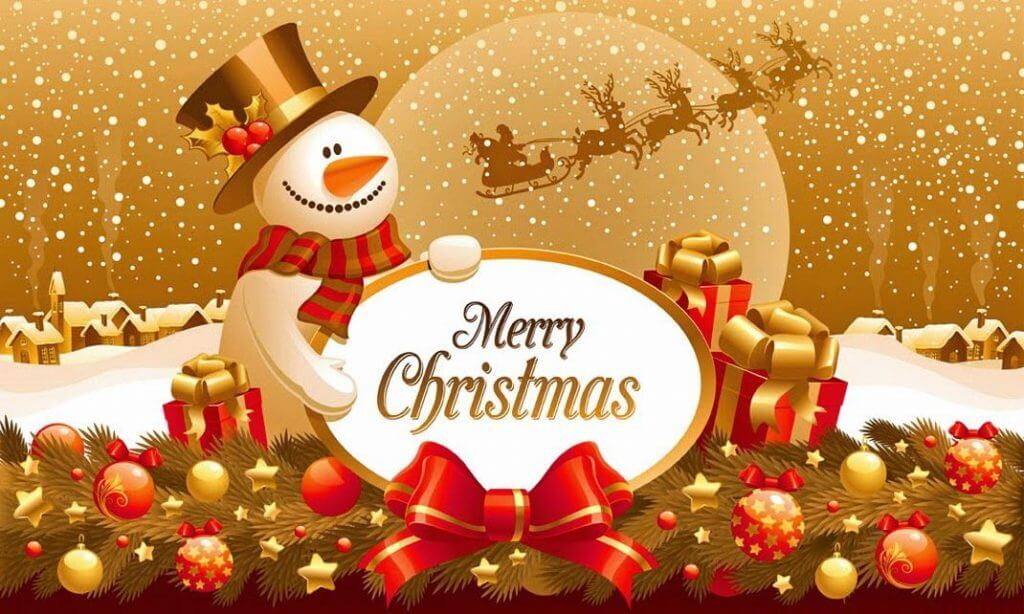 Merry Christmas - jigsaw puzzles for children very cool (5×5)
