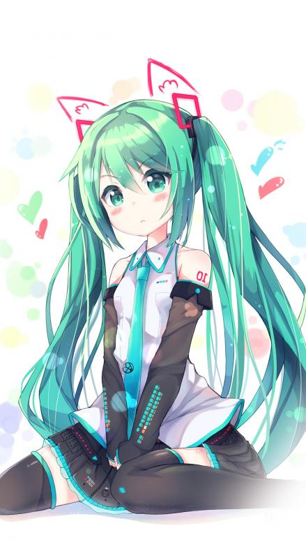 Girl from anime - THis is an anime girl with turquoise hair (12×12)