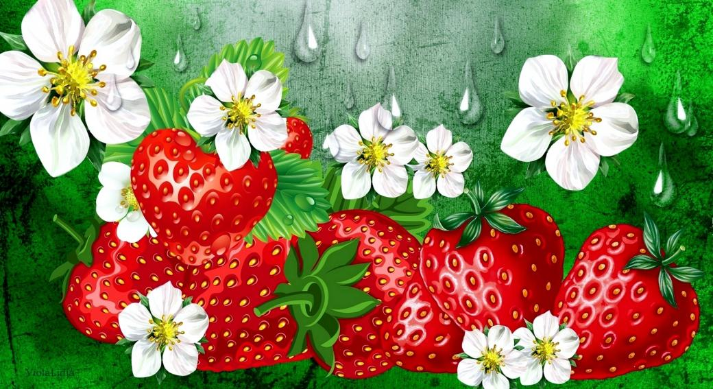 strawberries - colorful jigsaw puzzle (10×10)