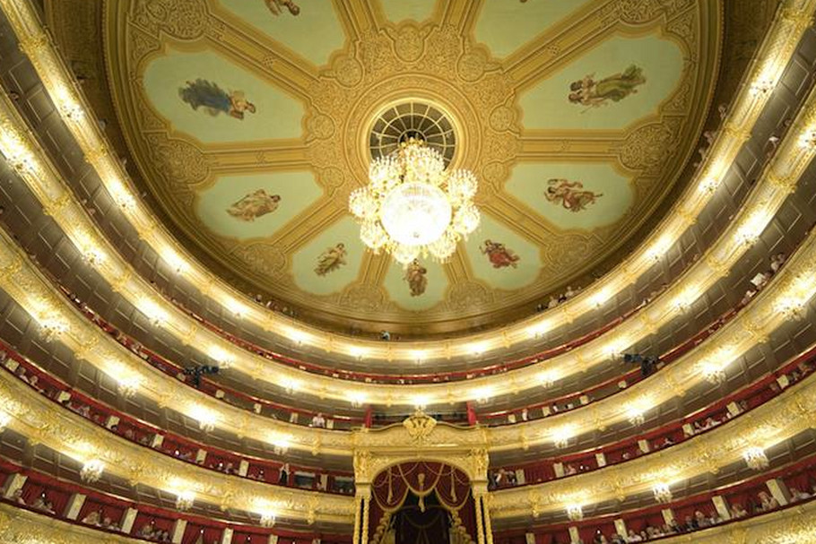 The interior of the Bolshoi Th - Interior of the Bolshoi Theater in Moscow (8×7)
