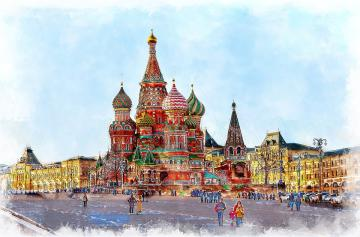 Moscow, Orthodox churches. - Moscow, Moscow churches.