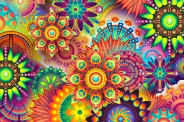 Difficult puzzle - Difficult puzzle. colorful abstraction.