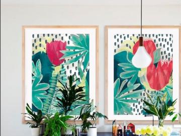 Colorful dining room - The idea for the dining room decor.
