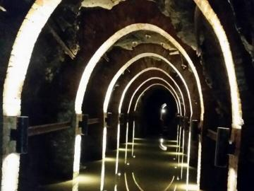 Water route in a coal mine. - Water route in a coal mine.
