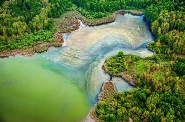 Green basin - Wonders of nature. A beautiful landscape straight from Poland :) Who knows where it is?