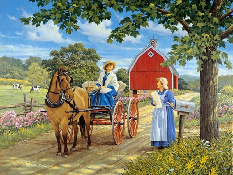 Neighbor - Neighborly chats in the countryside (10×10)
